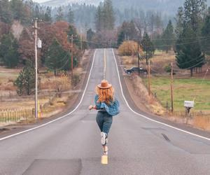 road, run, and girl image