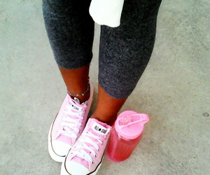 gym, pink, and love image