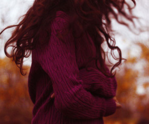 autumn, hair, and fall image