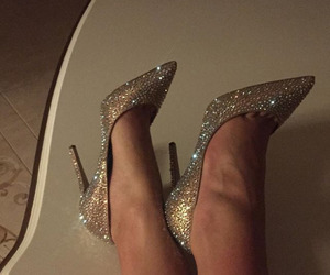 glitter, shoes, and heels image