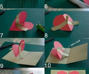 card, diy, and heart image