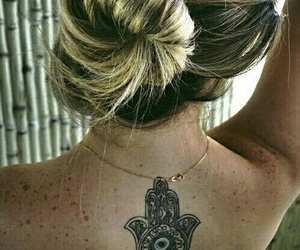 girl and tatto image