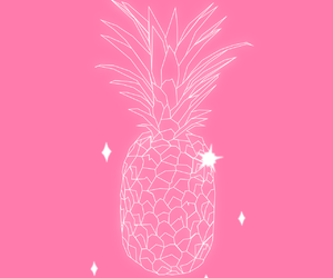 pineapple, pink, and sparkles image