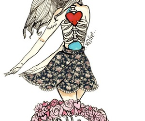 girl, valfre, and heart image