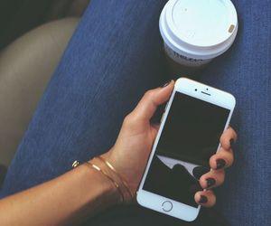 iphone, coffee, and starbucks image