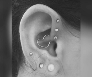 ear, girl, and heart image