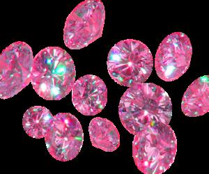 diamonds, pink, and transparent image