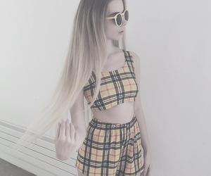 yellow, grunge, and hair image