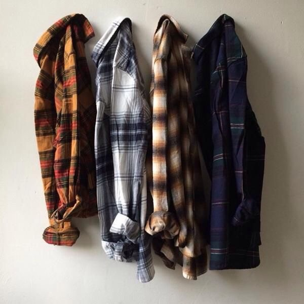 plaid, clothes, and outfit image
