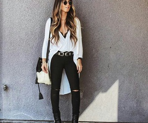 black and white, fashion blogger, and fashion style image