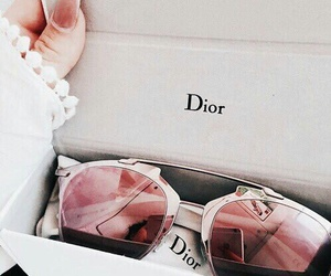 dior, pink, and glasses image