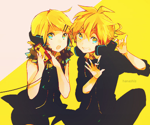 twins, len kagamine, and vocaloid image