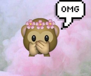 OMG, emoji, and monkey image