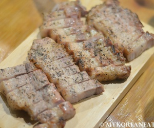 korean food, pork grilled, and eat in south korea image