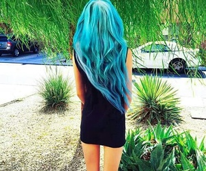 colored hair, dyed hair, and girl image