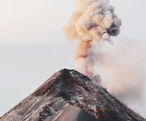 volcano, nature, and aesthetic image
