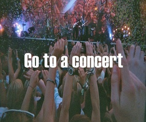concert, girl, and text image