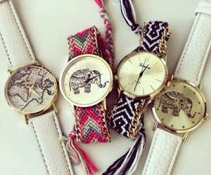 fashion, watch, and elephant image