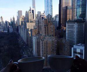 city, coffee, and new york image