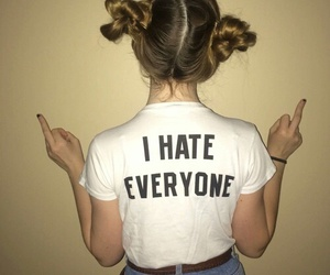 fashion, hair, and hate image