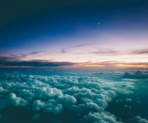 adorable, sky, and sunset image