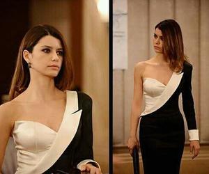 beauty, turkish celebrity, and black &white image