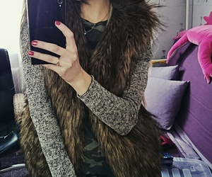 fur, girl, and outfit image