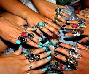 rings, nails, and hands image