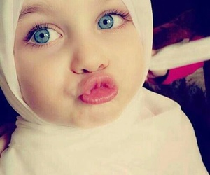 baby, hijab, and muslim image