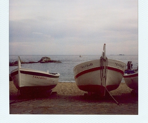 boats, polaroid, and sky image