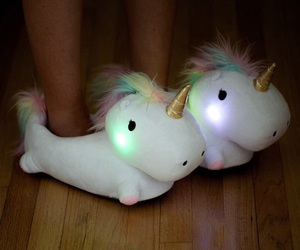 unicorn, slippers, and light image