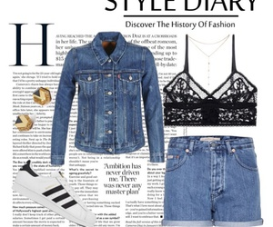 accessories, denim jacket, and denim shorts image