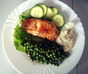 Chicken, cucumber, and fitness image