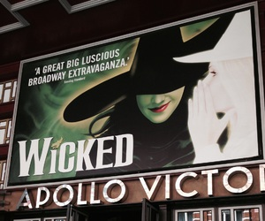 london, musical, and wicked image