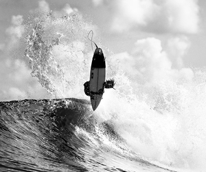 ocean, surfer, and waves image