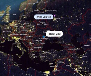 distance, map, and miss you image