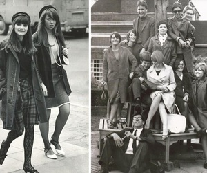 1960s, black, and white image