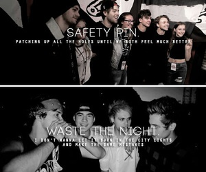 5sos, safety pin, and waste the night image