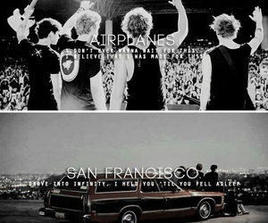 sounds good feels good, airplanes, and san francisco image