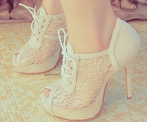 heels, pretty shoes, and netted shoes image