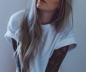 tattoo, girl, and grunge image