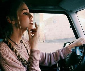 girl, car, and hair image