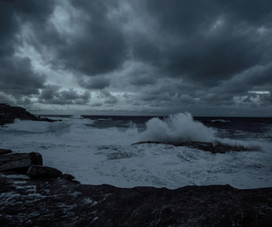 dark and sea image