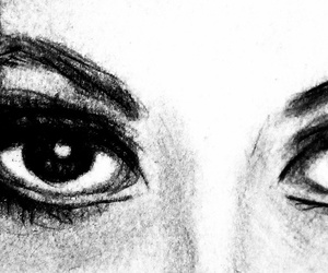 black, eyes, and draw image