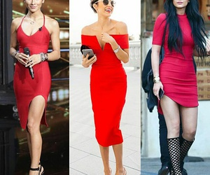 red dress, Valentine's Day, and kylie jenner image