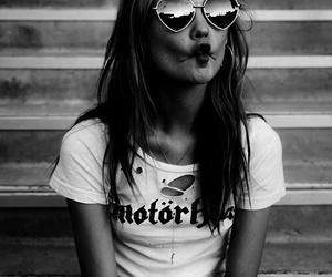 girl, Behati Prinsloo, and black and white image