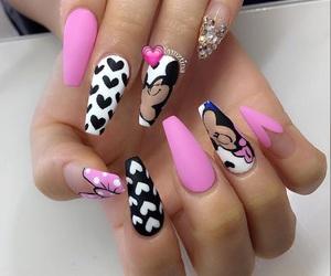 hearts, nails, and minnie image