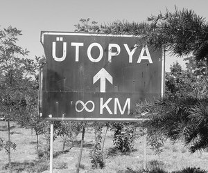 utopia, black and white, and infinity image