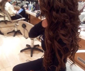 curls, hairstyles, and long hair image