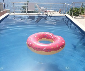 donuts, summer, and pink image